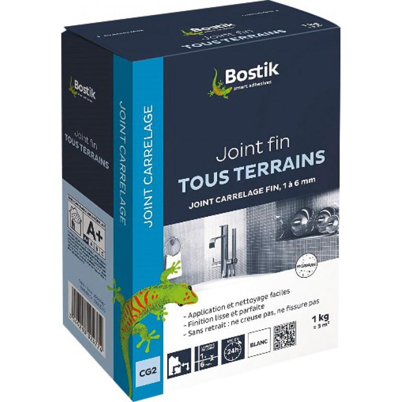 Joint fin poudre Bostik - Blanc - Boîte 1 kg