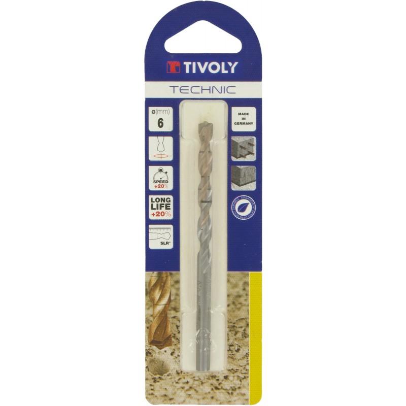 Foret à béton Technic SLR Tivoly - Diamètre 6 mm