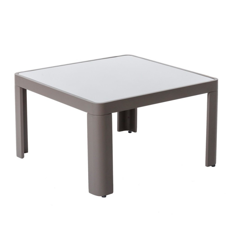 Table de jardin carrée aluminium - Stella - Gris