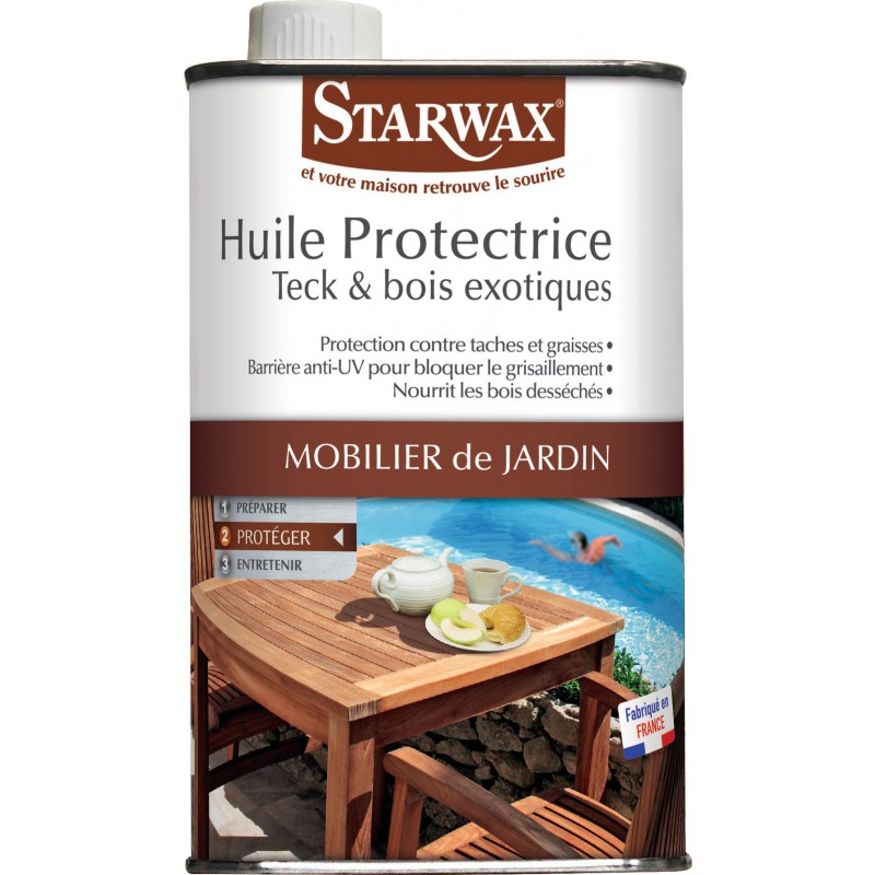 huile protectrice teck et bois exotiques starwax bidon 500 ml. Black Bedroom Furniture Sets. Home Design Ideas