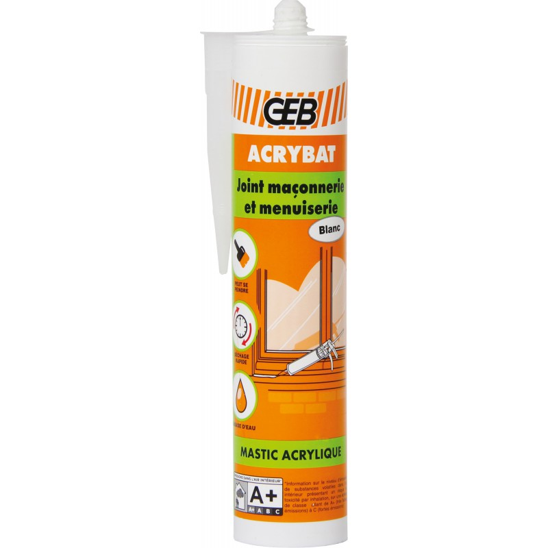 Mastic acrylique Geb - Blanc