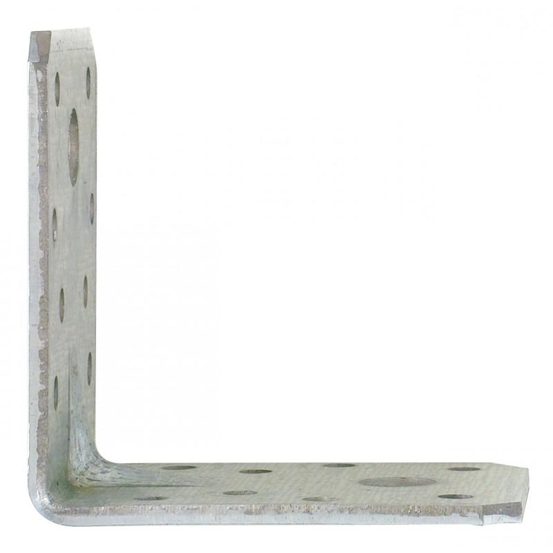 Equerre galvanisée renforcée Alberts - Dimensions 70 mm x 55 mm x 70 mm