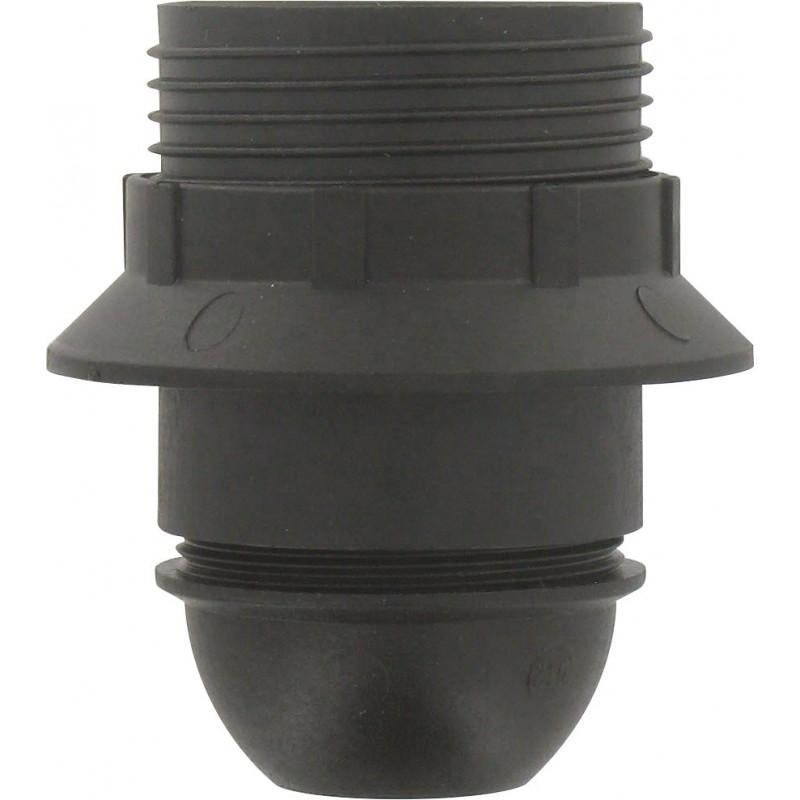 Douille E27 bakélite L'Ebénoïd - Raccord diamètre 10 mm - Noir