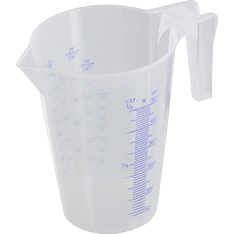 Broc verseur gradué polypropylène translucide Artub - 0,5 l