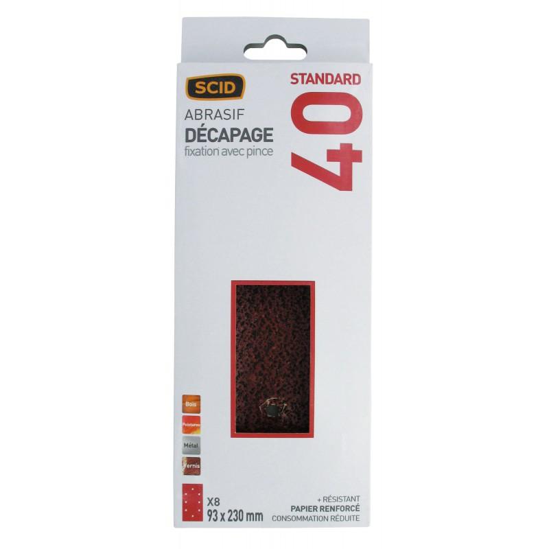 Patin 93 x 230 mm 8 trous SCID - Grain 40 - Vendu par 8