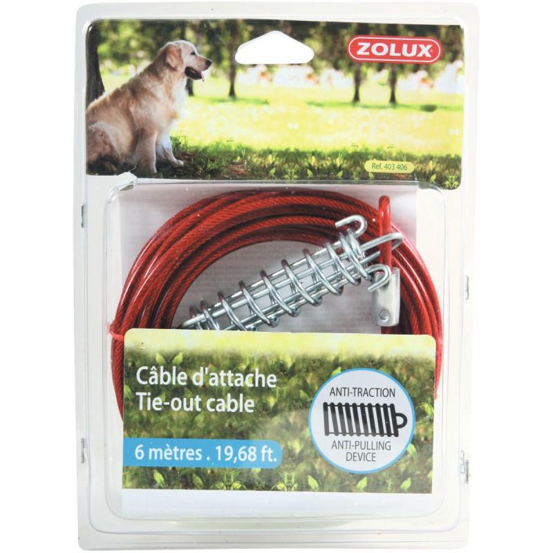 Câble d'attache avec ressort Zolux - Longueur 6 m