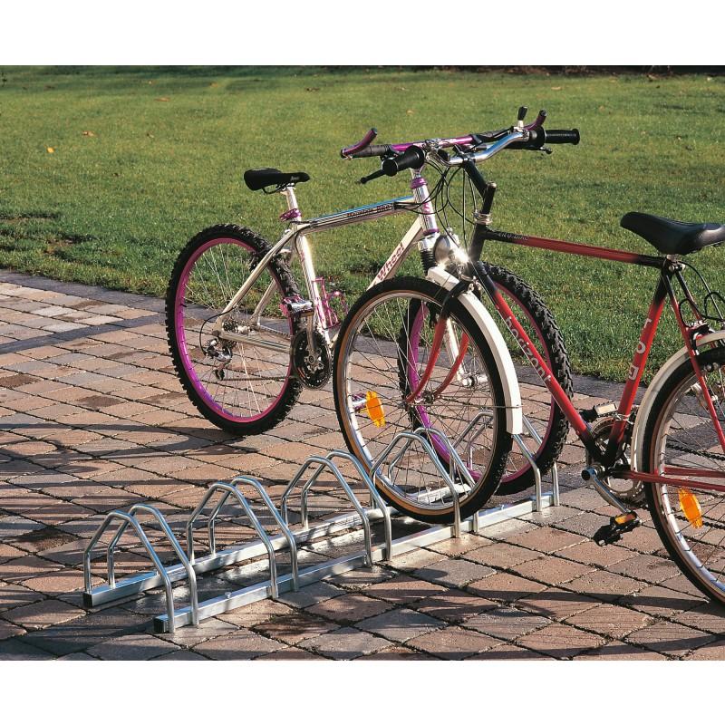 Support vélo face à face Mottez - 3 vélos - 72 cm
