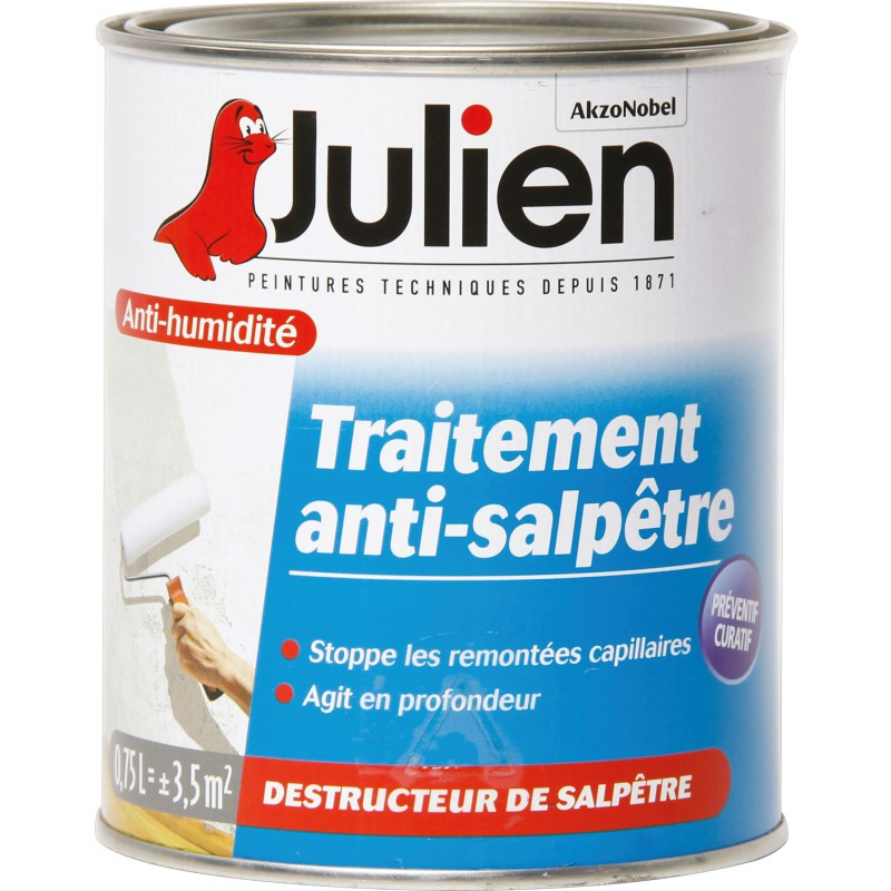 Traitement Anti Salpêtre Julien   Boîte 750 Ml