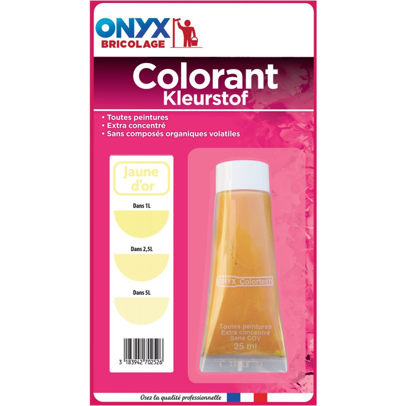 Colorant universel 25 ml Onyx - Jaune or