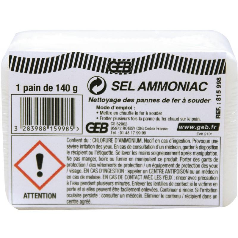 SEL AMMONIAC  PAIN DE 140 G