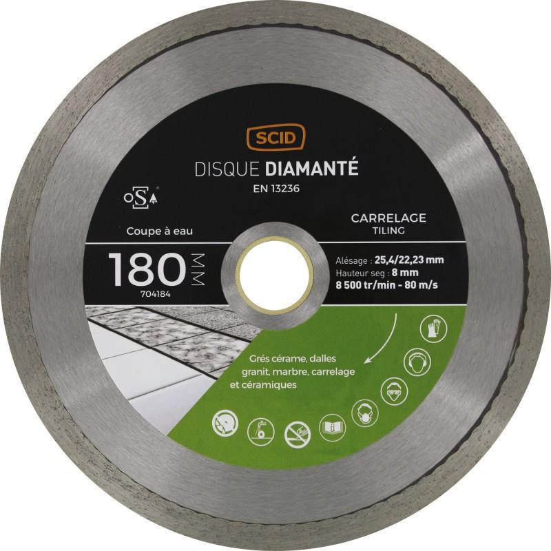 Disque diamanté carreleur professionnel SCID - Diamètre 180 mm