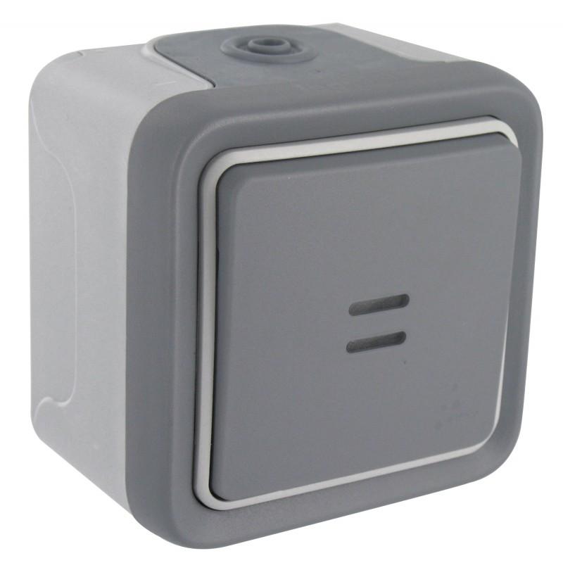 Interrupteur en saillie Legrand - Plexo - Gris - Lumineux