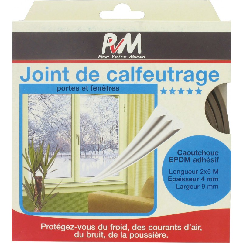 Joint en Caoutchouc Porte Fenêtre Isolation Acoustique Bruit autocollant jusqu/'à 4 mm F profil