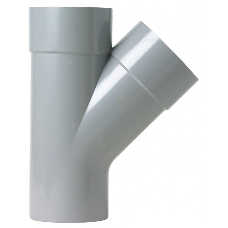 Culotte à 45° Mâle / Femelle Girpi - Diamètre 125 mm