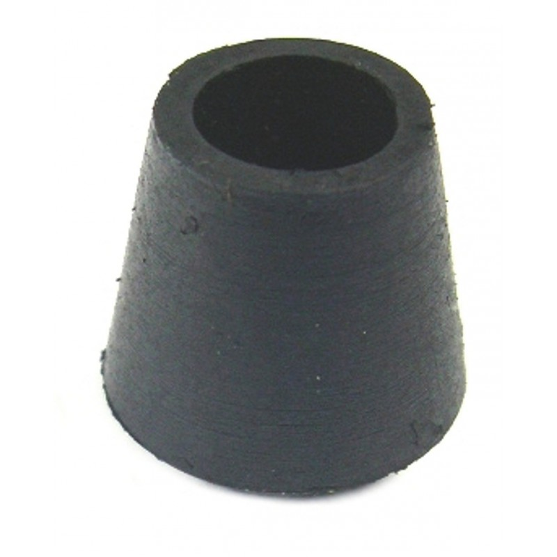 Embout enveloppant caoutchouc noir Shepherd - Diamètre 18 mm - Vendu par 20