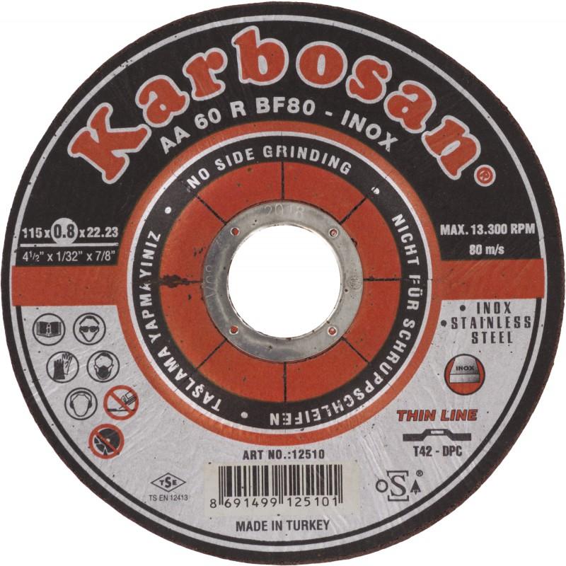 Disque à tronçonner acier et inox SCID - Diamètre 115 mm