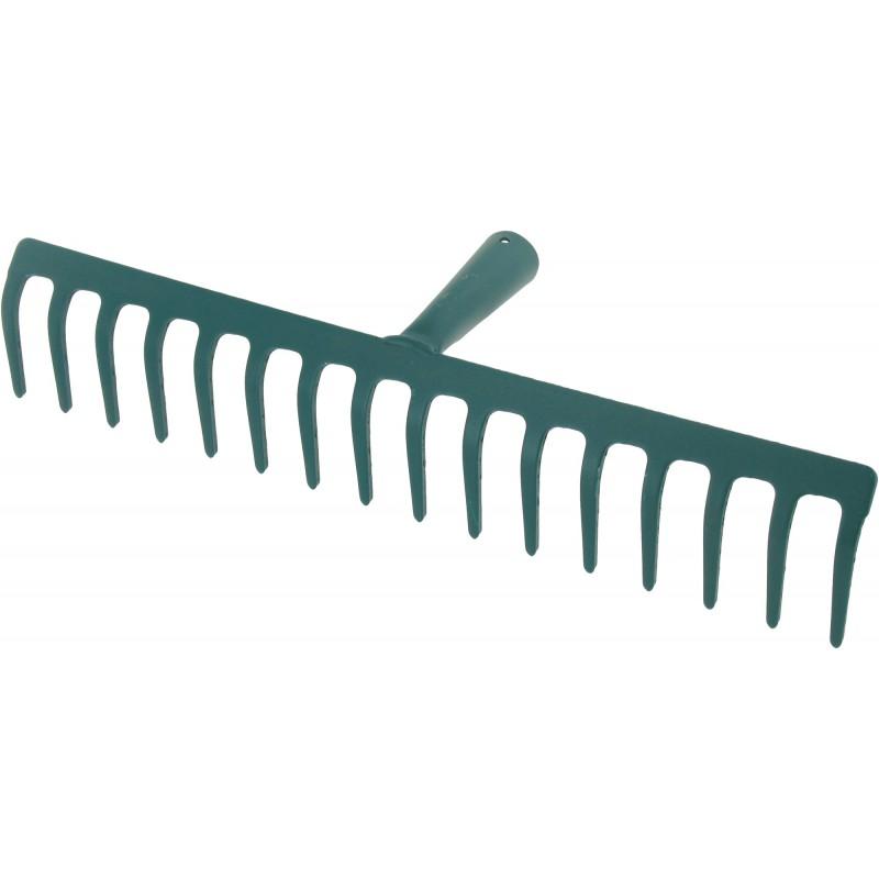 Râteau soudé dents courbes Cap Vert - Sans manche 16 dents