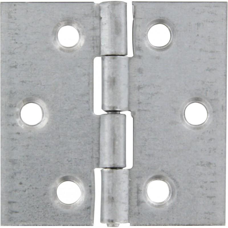 Charnière carrée fer zingué Strauss Vonderweidt - Hauteur 40 mm - Largeur 40 mm - Vendu par 2