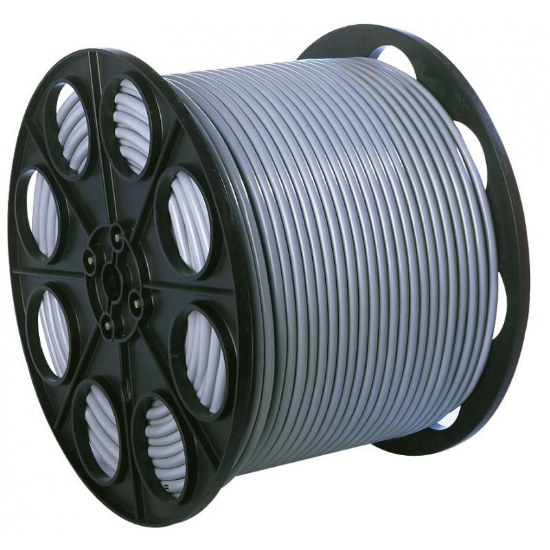 Câble H05 VV-F métré 1,5 mm² Dhome - 1/2 touret - Gris - Longueur 125 m