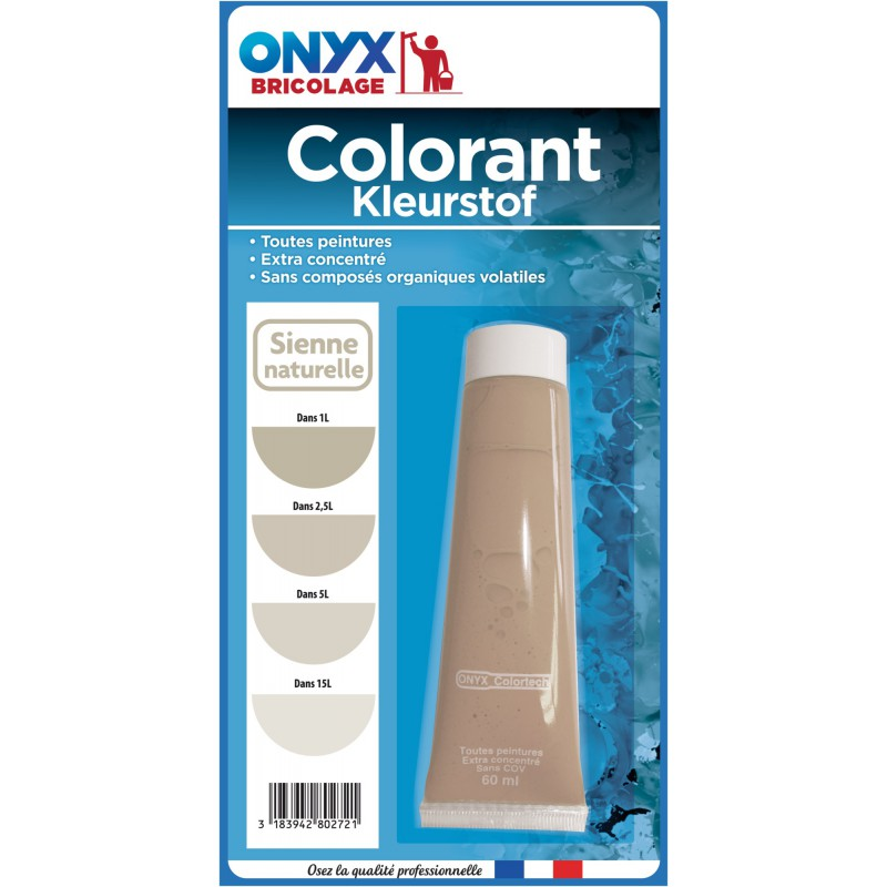 Colorant universel 60 ml Onyx - Sienne naturelle