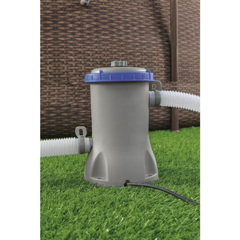 Pompe de filtration piscine Flowclear Bestway - Puissance 29 W - Débit 2006 l/h