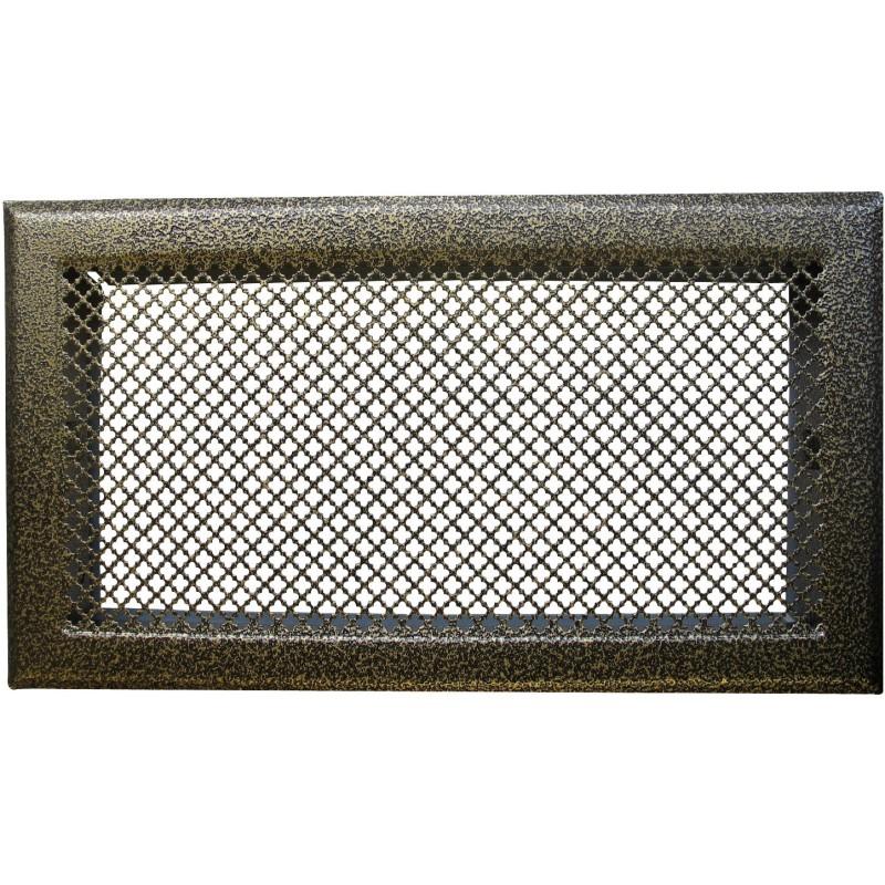 Grille de cheminée avec précadre DMO - Bronze - Dimensions 345 x 195 mm