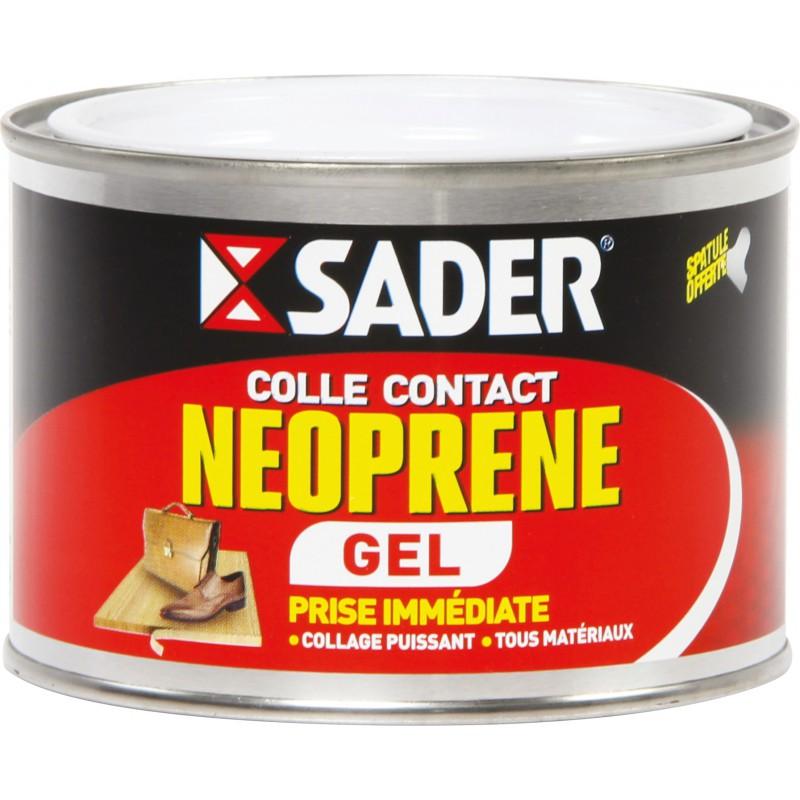 Colle Neoprene Contact Gel Sader Boite Metal Avec Spatule 250 Ml