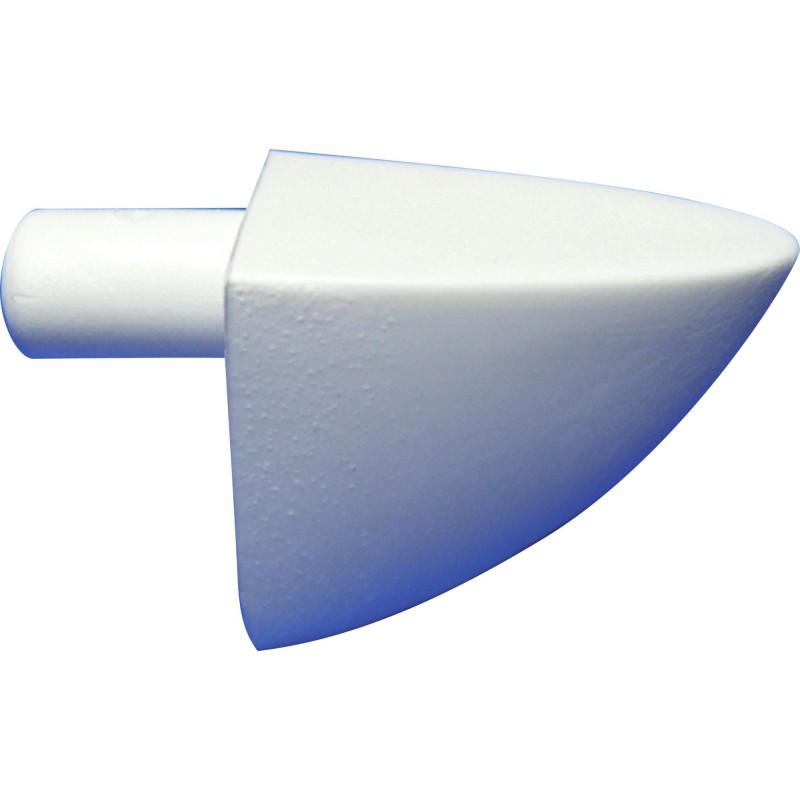 Taquet simple tige de 5 mm Strauss Vonderweidt - Blanc - Vendu par 12