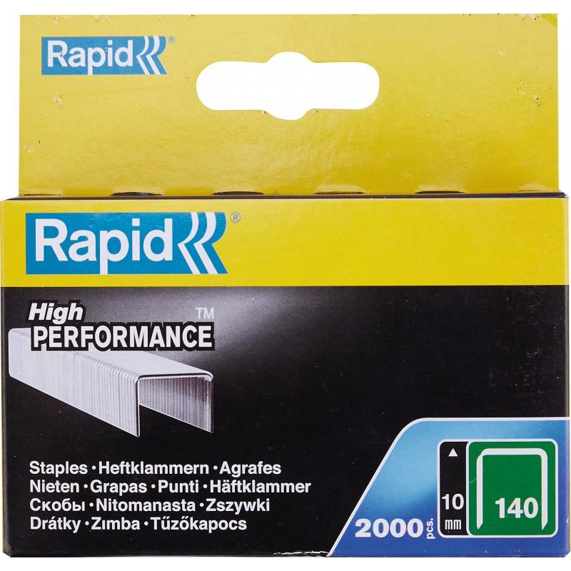 Agrafe n°140 Rapid Agraf - Hauteur 10 mm - 2000 agrafes