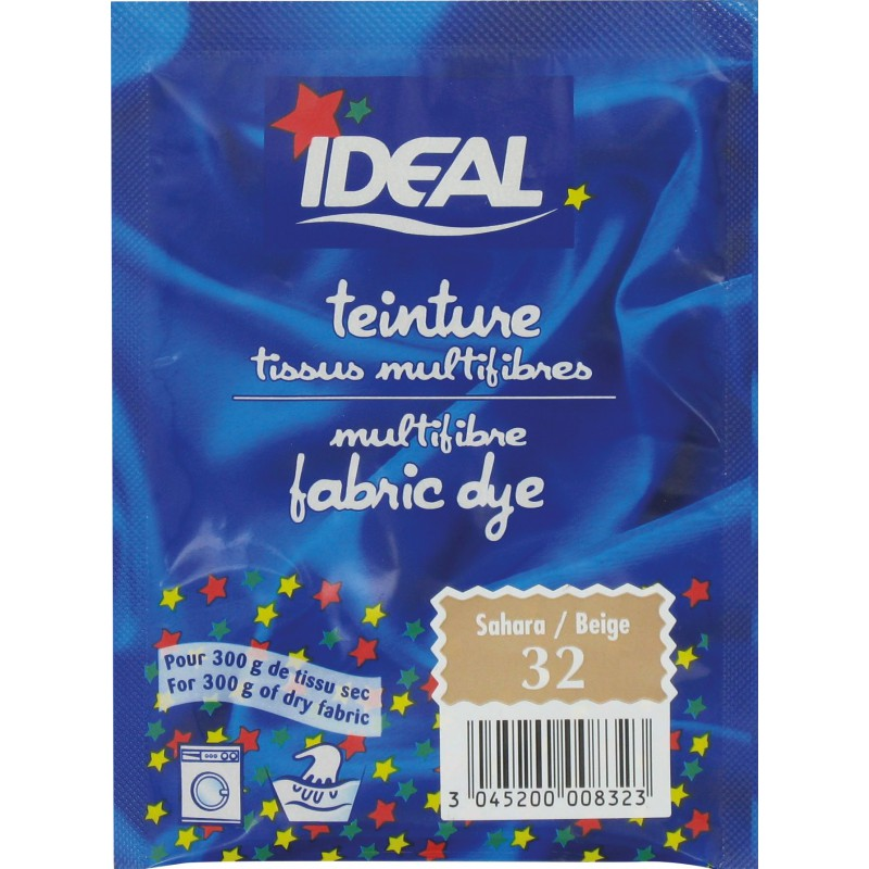 Teinture tissu main-machine Ideal - Sachet 15 g - Sahara n°32
