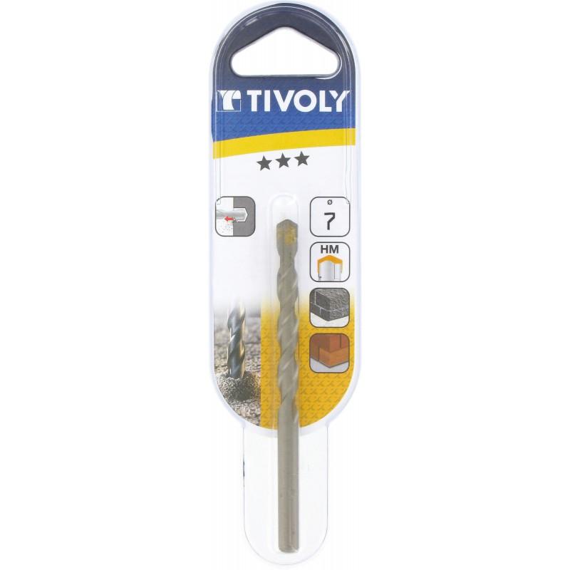 Foret à béton usage fréquent Tivoly - Longueur 100 mm - Diamètre 7 mm - Vendu par 1