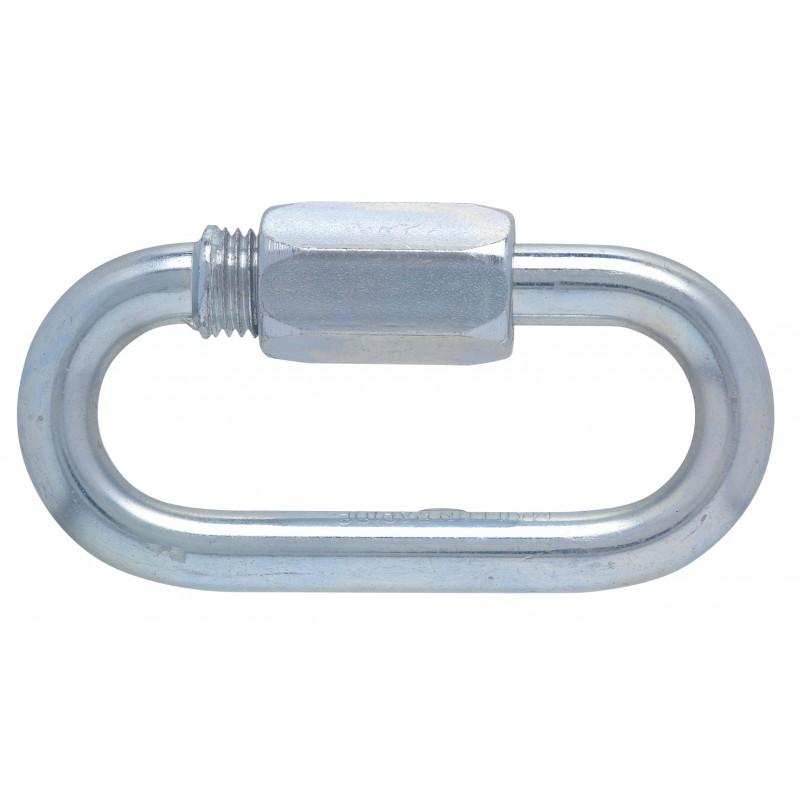 Maillon rapide® série normale zingué Peguet - Diamètre 6 mm - Charge utile 400 kg - Vendu par 2