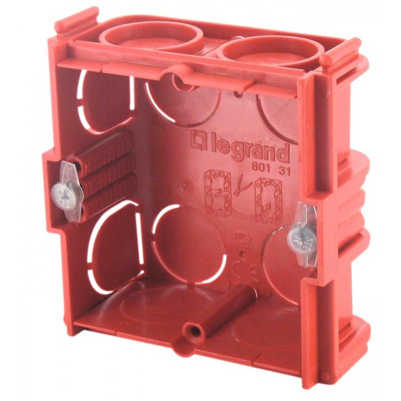 Boîte maçonnerie Legrand - 1 poste carrée - Profondeur 30 mm