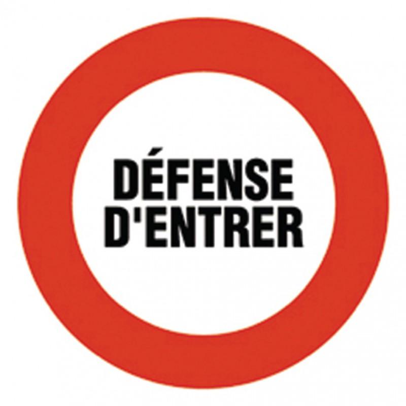 Disque rigide diamètre 18 cm Novap - Défense d'entrer