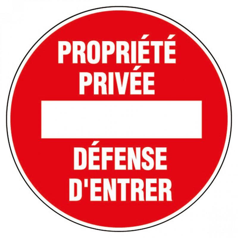 Disque rigide diamètre 18 cm Novap - Propriété privée défense d'entrer