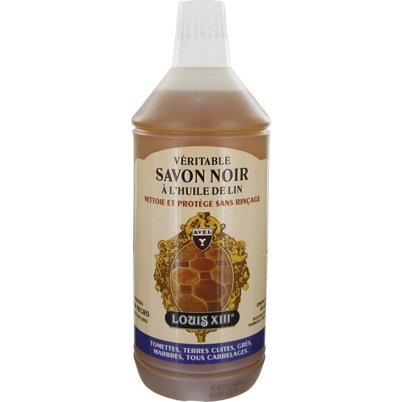 Savon noir à l'huile de lin Avel Louis XIII - Flacon 1 l