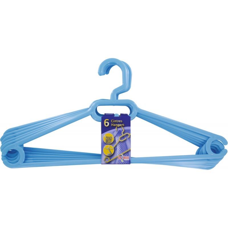 Cintre plastique Laguelle - Crochet fixe - Adulte - Vendu par 6