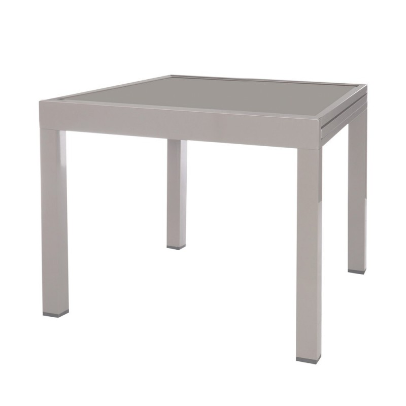 Table de jardin extensible aluminium longueur 90 cm - Table de jardin extensible aluminium ...