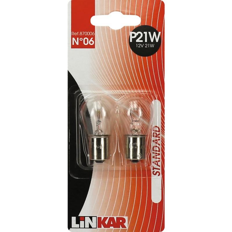 Ampoule automobile pour feu stop Linkar - P21W - 12 V - Vendu par 2