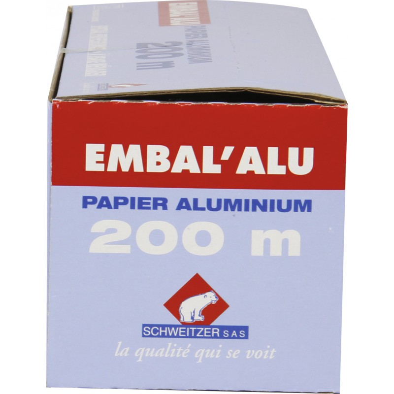 Papier aluminium Embal'Alu - Rouleau - Largeur 200 m x 29 cm