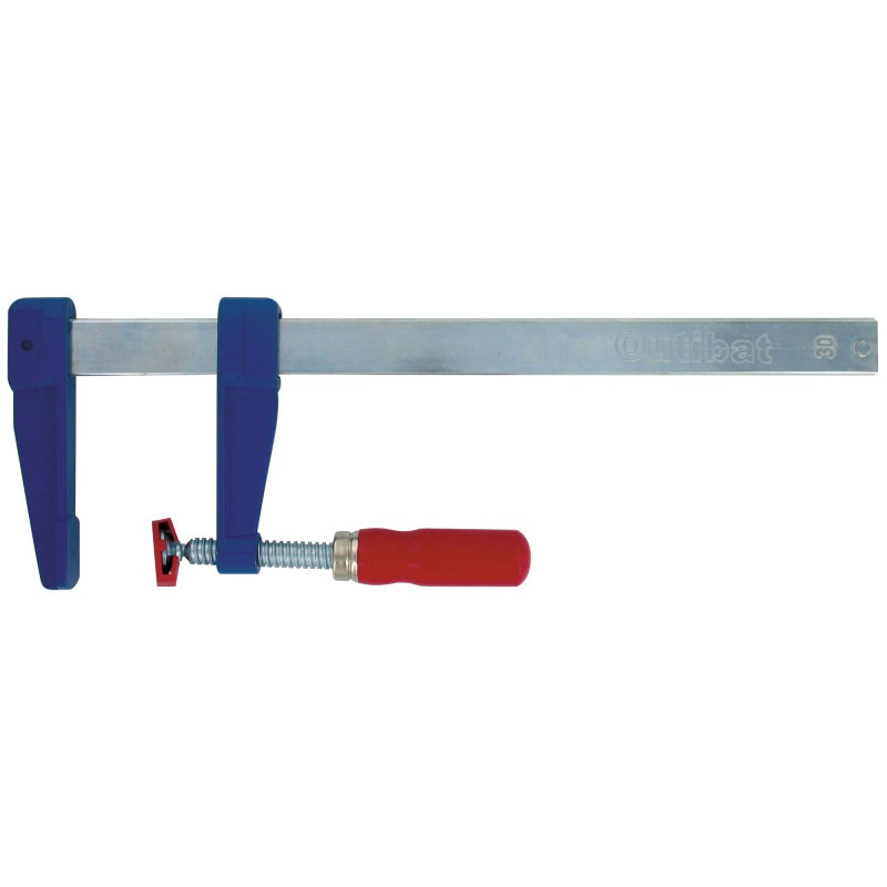 Presse à vis en Zamac Outibat - Longueur 150 mm - Saillie 50 mm - Section 15 x 5 mm