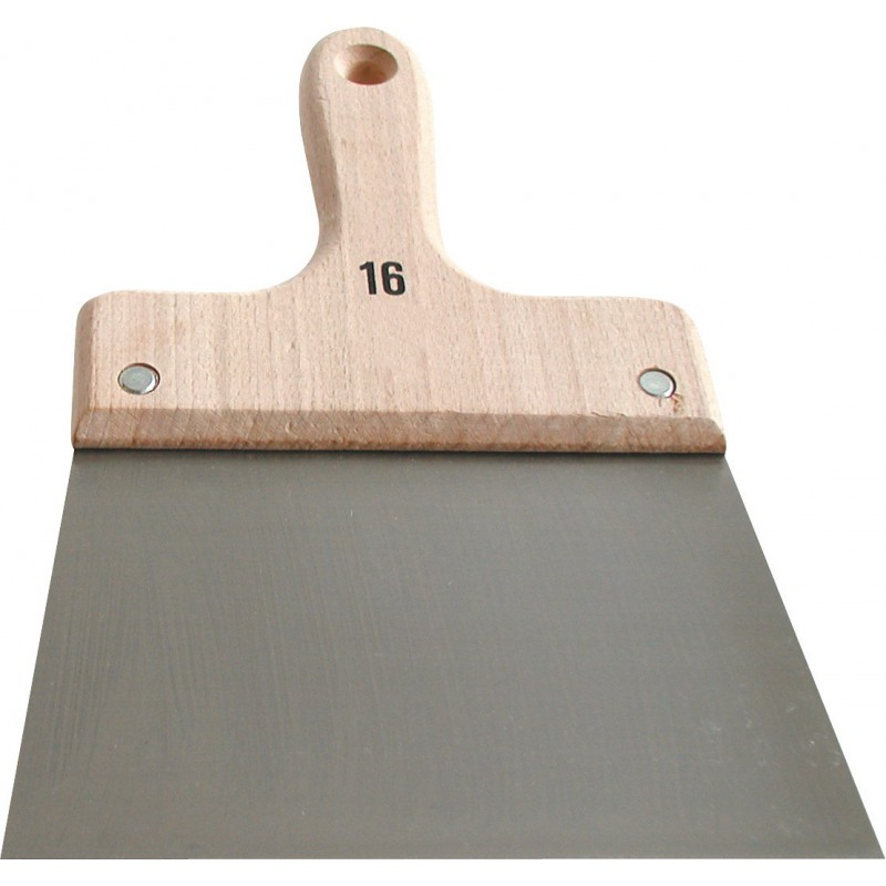 Couteau à enduire acier - Manche bois Outibat - Dimensions 14 cm