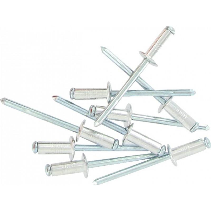 Rivet aveugle aluminium / acier tête plate éclaté Fix'Pro - Longueur 12 mm - Diamètre 4 mm - Vendu par 75