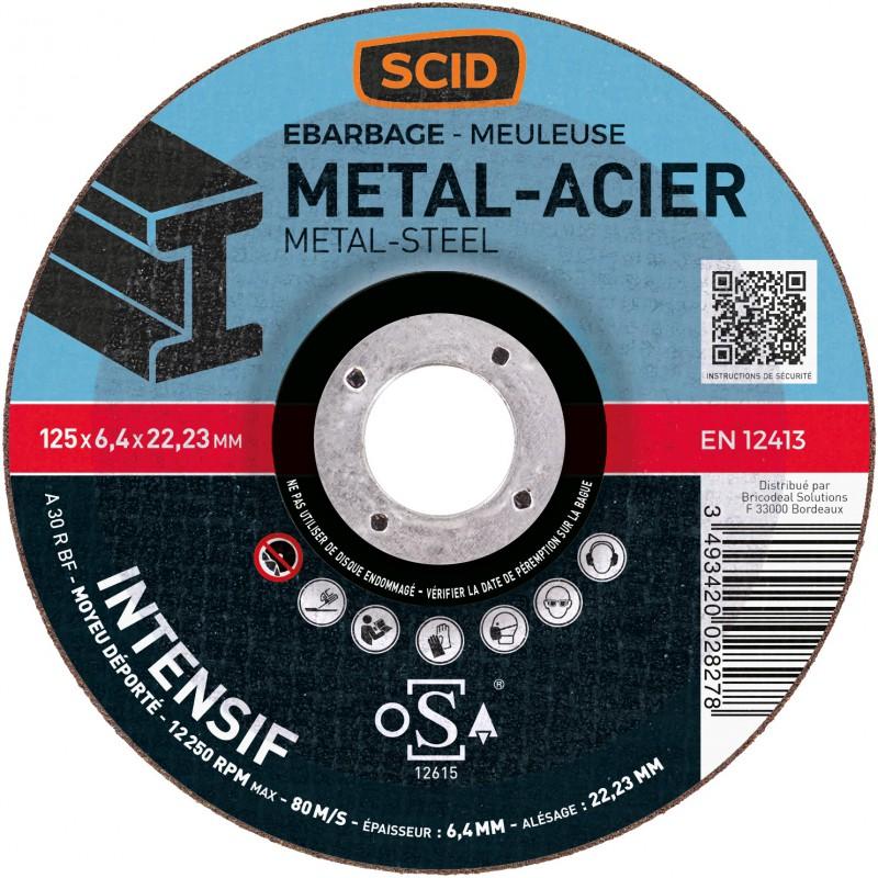 Disque à ébarber usage intensif SCID - Métaux - Diamètre 125 mm