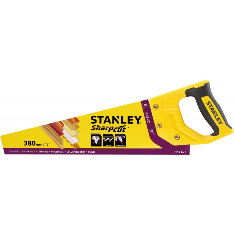 Scie égoïne denture universelle Stanley - 11 dents - Longueur 380 mm