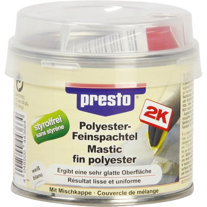 Mastic polyester fin souple Presto - Polyester - 250 g