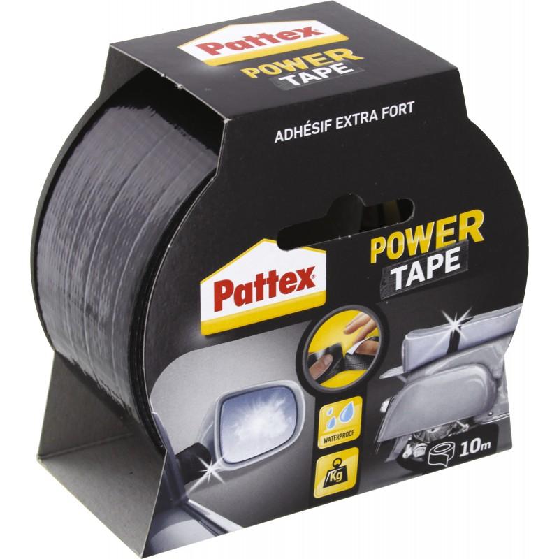 Adhésif super puissant Power tape Power Tape - Noir - Longueur 10 m