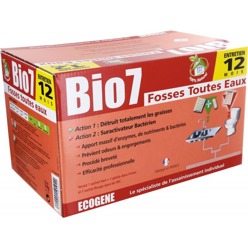 Bio 7 fosses toutes eaux Ecogène - 12 doses