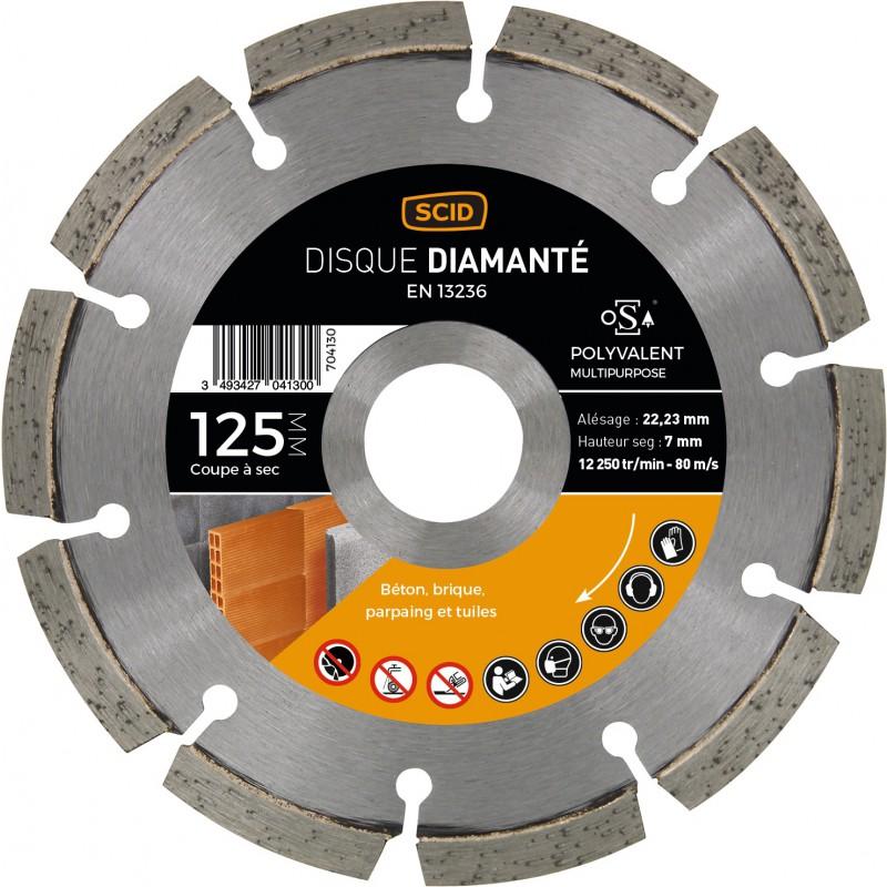Disque diamanté polyvalent SCID - Diamètre 125 mm
