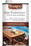 Huile protectrice teck et bois exotiques Starwax - Bidon 500 ml